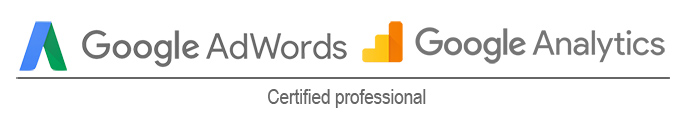 Adwords and Analytics certified logo